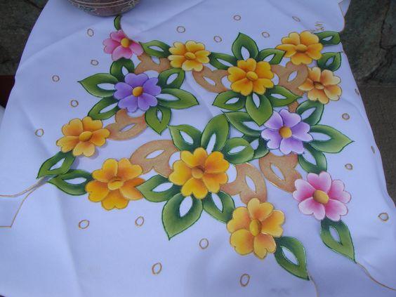 Paneras caladas pintura en tela pinterest - Pintura en tela dibujos ...