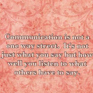 Don't just talk, Listen!