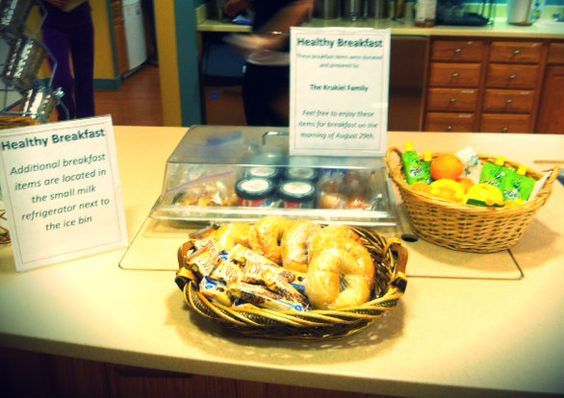 Families loved our Healthy Breakfast option this week.  Whole grains, fresh fruit, and yummy treats are a great way to start a morning!