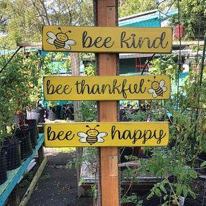 Bee Keeper Signs Primitive Bee Keeper Signs Rustic Bee Etsy In 2020 Garden Signs Diy Yard Sale Signs Garden Signs