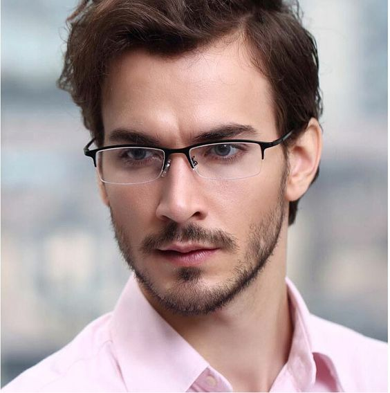 Pure Titanium Businessmen 8906 Metal Half Rim Optical Prescription EYEGLASS FRAMES Mens Myopia Glasses RX Spectacle Eyewear $24.99