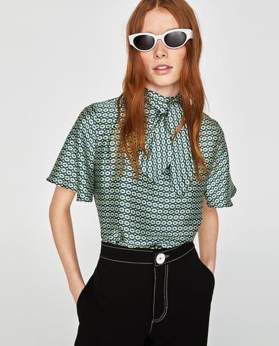 Blusa Tie Dye Julio 2018 Blusas Zara Blusas Camiseras Y