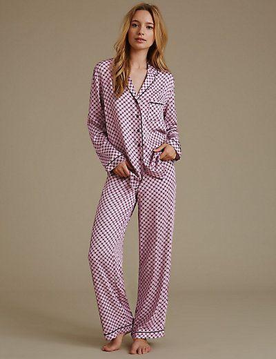 Long Sleeve Mosaic Pyjama | M&S