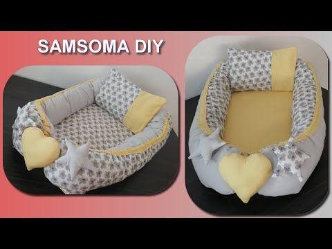 خياطة لوندو للبيبي عمل مهد حامل للرضيع الجزء 2 Part تجهيزات للمواليد Sew Baby Nest Youtube Bassinet Baby Nest Bed
