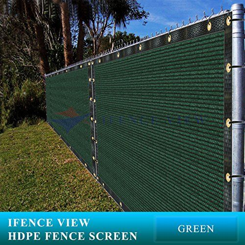 Ifenceview 3x12 Green Shade Cloth Fence Privacy Screen Fabric Mesh