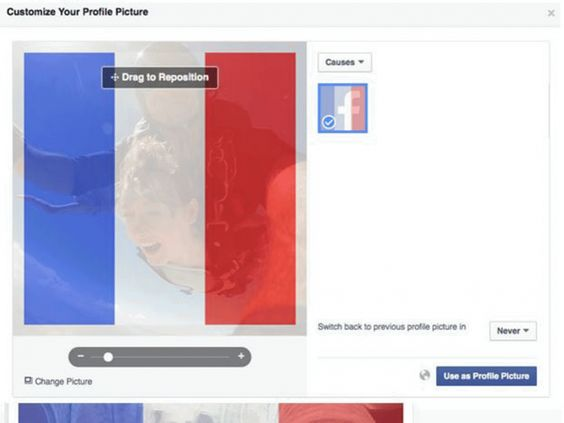 Got a French flag on your Facebook profile picture? Congratulations on your corporate white supremacy