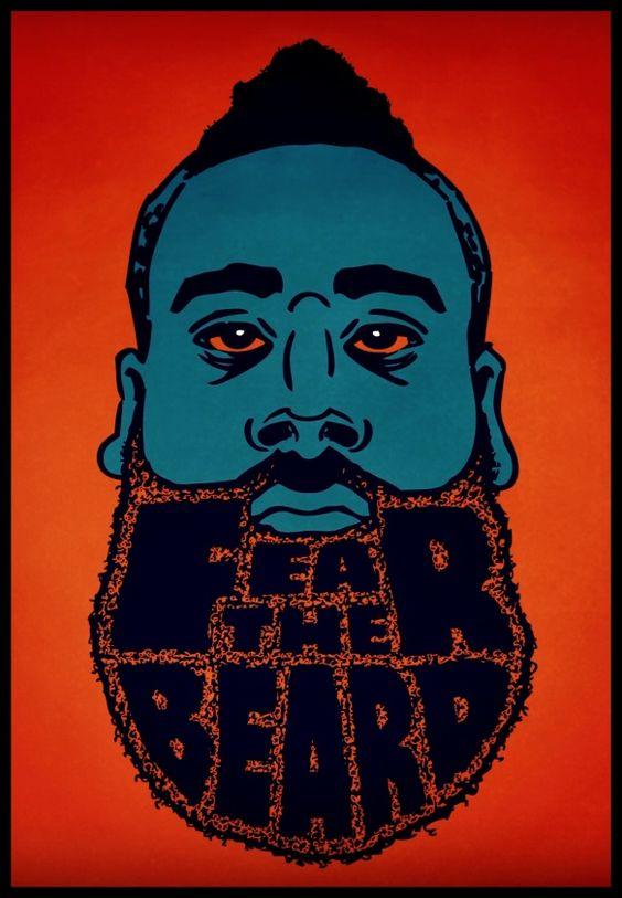 James Harden, OKC - Best beard in the NBA? #basketball #NBA #jamesharden