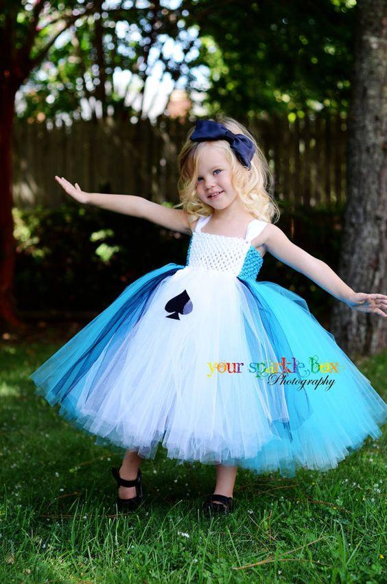 alice in wonderland tutu dress halloween costume YOUR SPARKLE BOX on ETSY