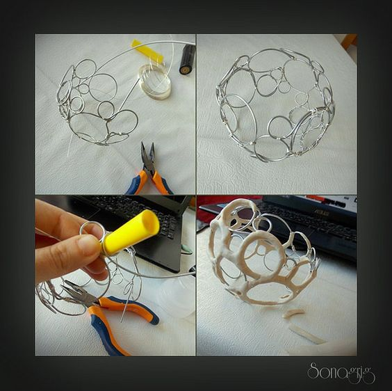This is how I've made the base of my bangle..:) | Flickr: Intercambio de fotos