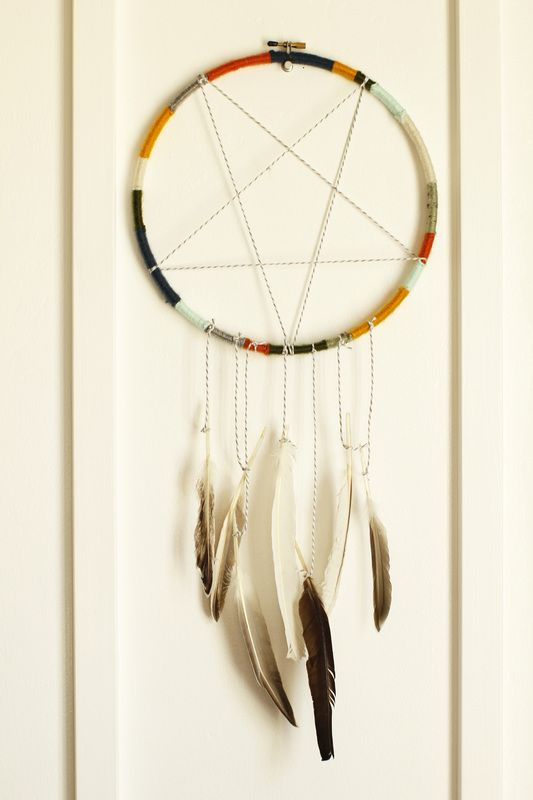 Dream catchers catcher and dreams on pinterest for Easy homemade dream catchers