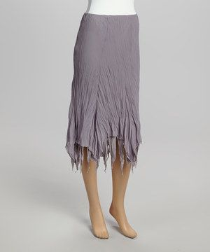Loving this Farinelli Gray Fringe Skirt on #zulily! #zulilyfinds