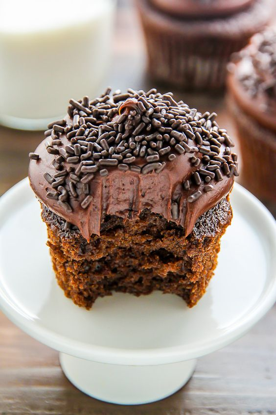 OldFashioned Chocolate Buttermilk Cupcakes Recipe Homemade