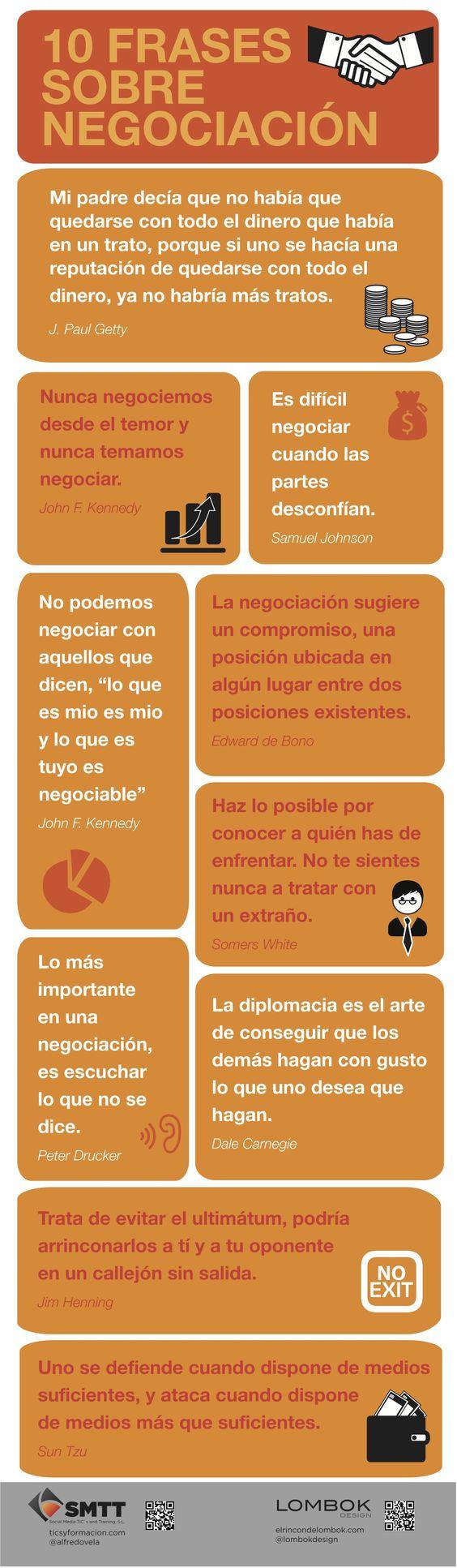 10 Frases sobre negociación