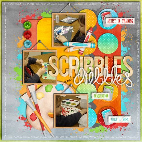 scribbles and dribbles class - Sweet Shoppe Gallery