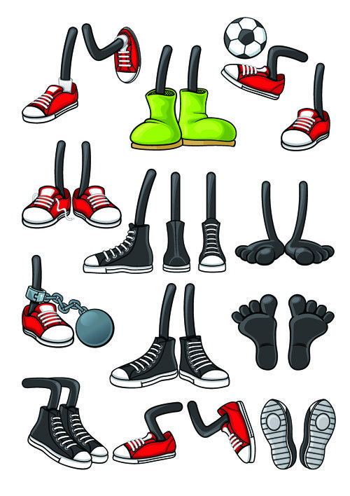 Funny Cartoon Shoes Vector Graphics Free In 2020 Cartoon Clip Art Cartoon Shoes Cartoon Character Design