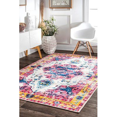 Bungalow Rose Penrod Pink Area Rug Wayfair Rugs Usa Area Rugs Decor