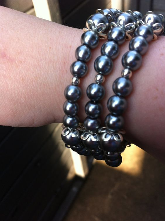 Hey, I found this really awesome Etsy listing at https://www.etsy.com/listing/201183806/silver-pearl-coil-bracelet-memory-wire