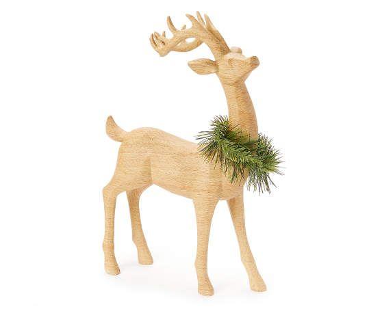 Winter Wonder Lane Wreath Collar Standing Deer Tabletop Decor Big Lots Indoor Christmas Decorations Table Top Decor Gold Reindeer Decor
