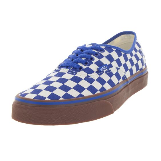 Vans Authentic Unisex /White Checkerboard Gum Skate Shoes