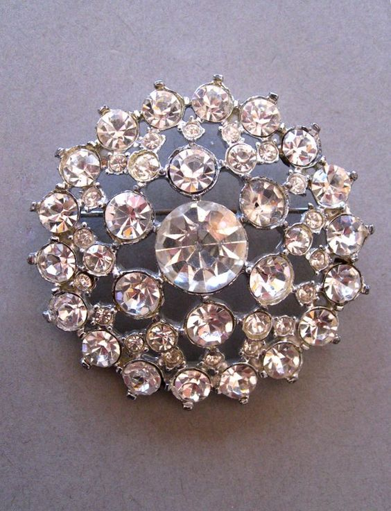 Vintage Rhinestone Brooch I still have one of these from when I was little!  =)