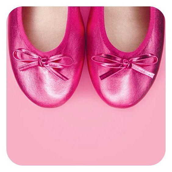Pink princess flats.