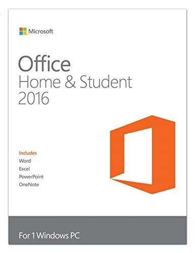 Microsoft Office Home and Student 2016 PC Key Card by Microsoft