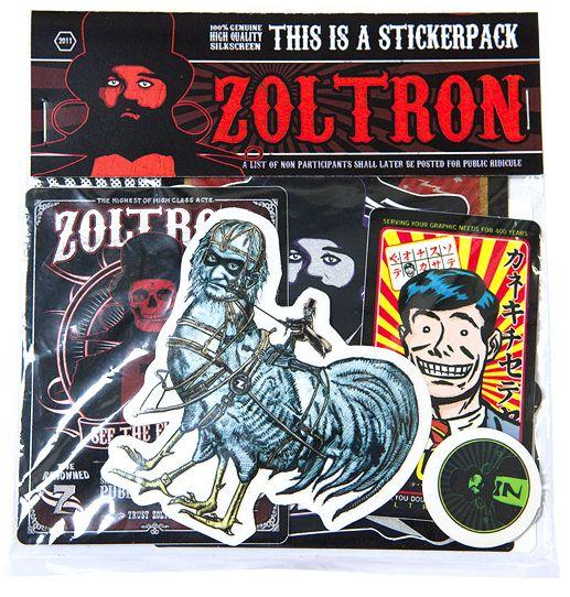 Zoltron sticker packs