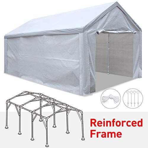 Tentking Rainproof 12 X 20 Carport Outdoor Car Canopy Shelter With Upgraded Rei In 2020 Canopy Shelter Car Canopy Carport