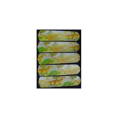 #Ceiling Fan Designers 52SET-KIDS-DDTJ Dinosaurs T-Rex Jurassic 52 inch Ceiling Fan Blades Only $77.75