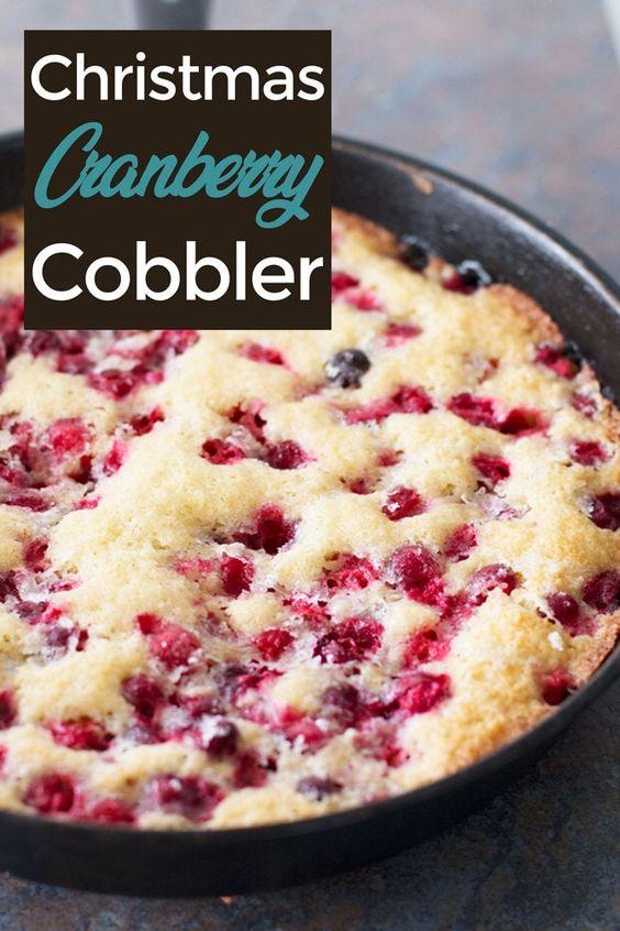 Cranberry Cobbler - Thanksgiving Dessert Recipe