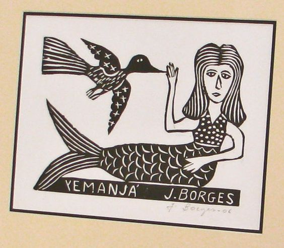 Mermaid Print  Framed  by  J Borges par BeeJayKay sur Etsy,