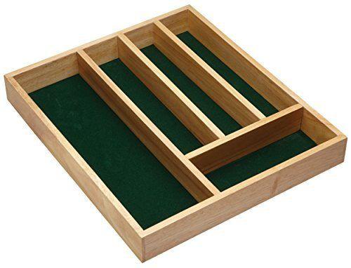 Kitchen Craft Kccutlerywd Organizador De Cubiertos En Madera 5 Compartimentos 36 X 31 X 5 Cm Amazo Organizador De Cubiertos Cuberteros Cajones De Verdura