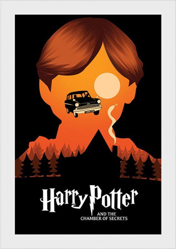 Câmara Secreta - Harry Potter - Livros | Posters Minimalistas