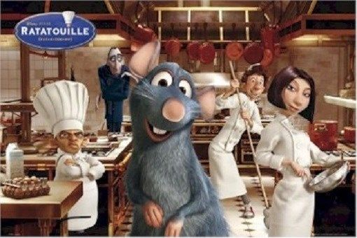 Ratatouille Kitchen Cast 24x36 Movie Poster Disney Pixarnew Rolled Disney Ratatouille Movie Ratatouille Movie Characters Disney