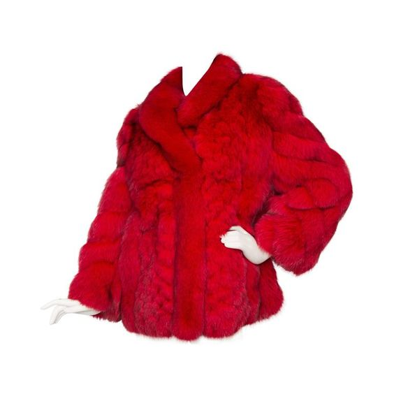 1980s Deep Red Fox Fur Coat | From a collection of rare vintage coats and outerwear at https://www.1stdibs.com/fashion/clothing/coats-outerwear/