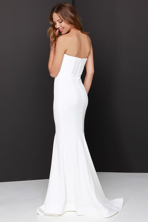 Sorella Ivory Strapless Maxi Dress  Maxis Dresses and Strapless ...