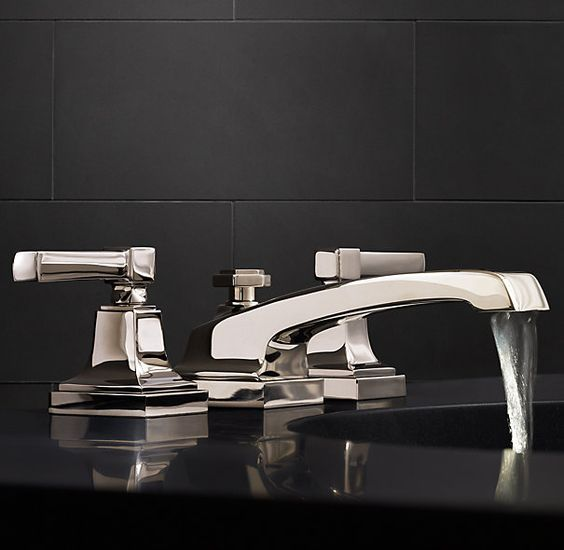 Powder Master And Guest Bath Dillon 8 Widespread Faucet Set Polished Nickel Finish To Be