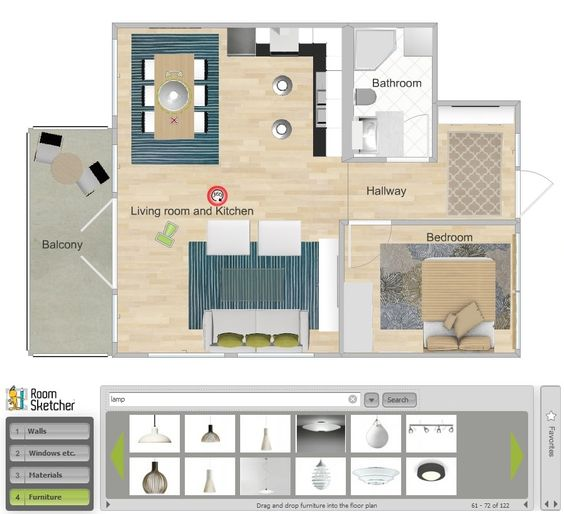 Review of 3 best free interior design softwares: RoomSketcher, Ikea Home Planner, Room Styler.