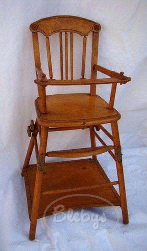lovely old highchair doll brand naether vintage years 1920 1940 antique wooden furniture. Black Bedroom Furniture Sets. Home Design Ideas