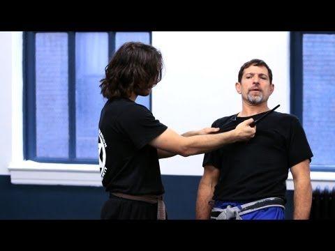 Krav Maga: Defense against Knife Threat to Throat (attacker in front)
