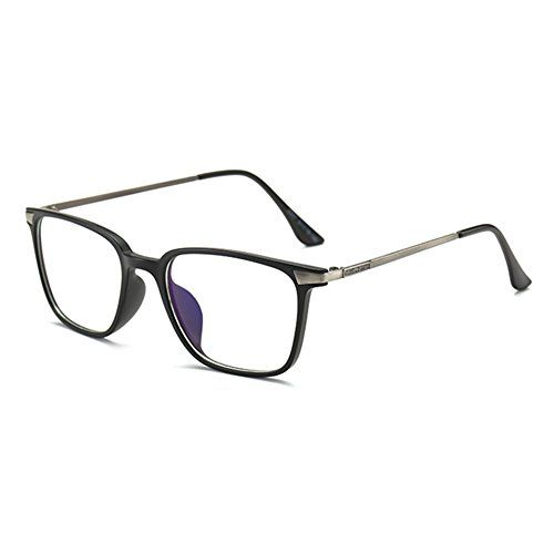 Juqilu Brille Gegen Blaulicht Unisex Tr90 Ultraleicht Transparente Linsen Brillenfassung Retro Stil Quadrat Fur Computer S Brillenfassungen Brille Retro Stil