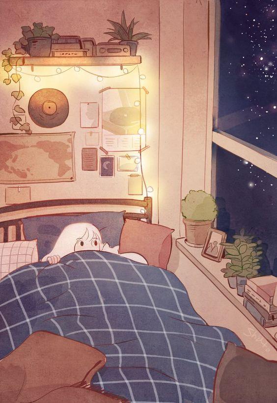 샤토 (@shato_illust) / Twitter art bedroom aesthetic room art | soyvirgo.com drawing inspirations decor