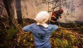 Fogo ameaça duas aldeias em Abrantes
