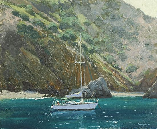 Island Anchorage by John Cosby Oil