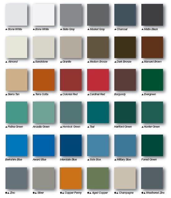 Metal Roof Colors Metal Roof Colors Metal Roofing Systems Roof Colors
