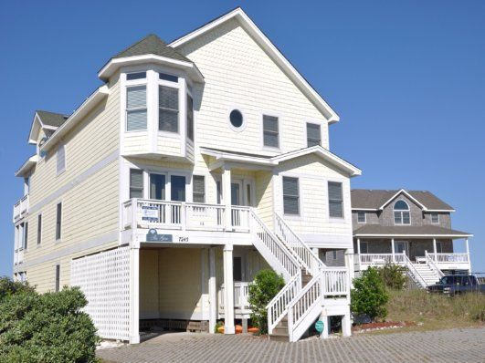 The Gem, a beautiful eight bedroom (all Masters), oceanfront home in Nags Head with numerous amenities, offers a great way to make your Outer Banks memories.