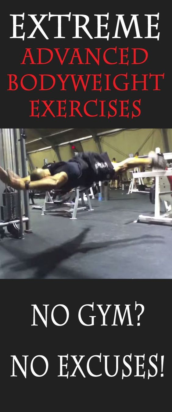 Extreme advanced bodyweight exercises. #exercise #workout #fitness…