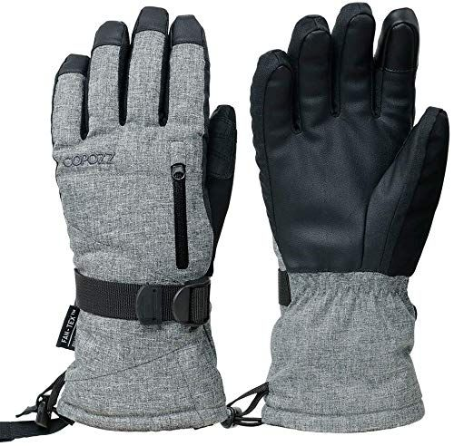 Amazing Offer On Copozz Waterproof Ski Gloves Windproof Thermal Warm Winter Insulated Motorcycle Snowmobile Snowboarding Skiing Gloves Zipper Pocket Men Women Ski Gloves Waterproof Gloves Snow Gloves