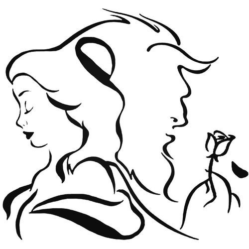 Beauty And The Beast Rose V4 Decal Sticker Beauty And The Beast