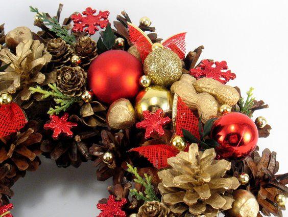 Weihnachtsdeko - Weihnachtskranz - ein Designerstück von Zielonepalce bei DaWanda